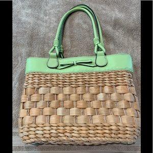 Liz Claiborne Straw Handbag